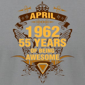 April 1962 55 Years of Being Awesome - Men's T-Shirt by American Apparel