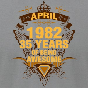 April 1982 35 Years of Being Awesome - Men's T-Shirt by American Apparel