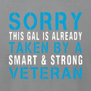 A Smart And Strong Veteran T Shirt - Men's T-Shirt by American Apparel