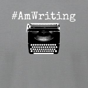 AmWriting With Typewriter Gift For Writers - Men's T-Shirt by American Apparel