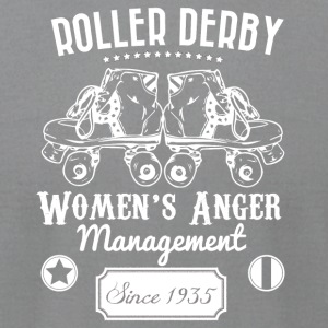 Roller Derby - Women's Anger Management Since 1935 - Men's T-Shirt by American Apparel