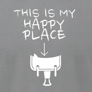 Happy Place Western Riding - Men's T-Shirt by American Apparel
