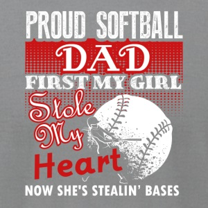 Proud Softball Dad Tee Shirt - Men's T-Shirt by American Apparel