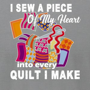 Piece of My Heart Quilting Tee - Men's T-Shirt by American Apparel