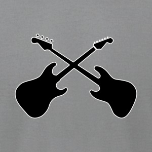 Crossed Guitars with white outline - Men's T-Shirt by American Apparel