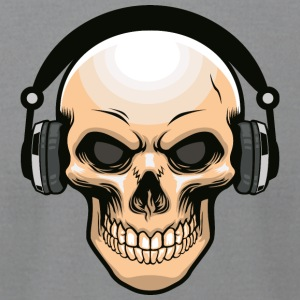skull-headphones-music-disko-DJ - Men's T-Shirt by American Apparel
