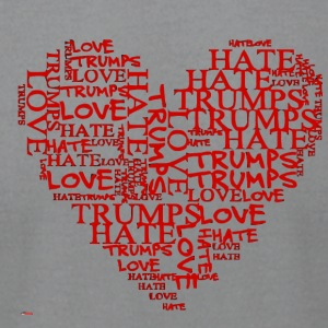 Love Trumps Hate Red Heart - Men's T-Shirt by American Apparel