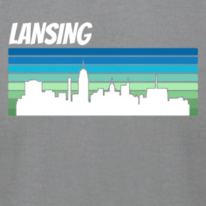 Retro Lansing Skyline - Men's T-Shirt by American Apparel