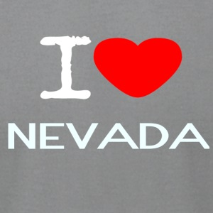 I LOVE NEVADA - Men's T-Shirt by American Apparel