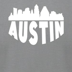 Austin TX Cityscape Skyline - Men's T-Shirt by American Apparel