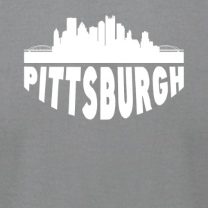 Pittsburgh PA Cityscape Skyline - Men's T-Shirt by American Apparel