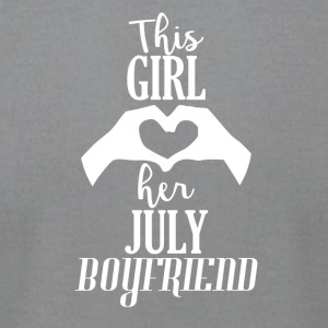 This Girl loves her July Boyfriend - Men's T-Shirt by American Apparel