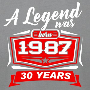 30 YEARS Birthday 1987 a legend T-Shirt - Hoodie - Men's T-Shirt by American Apparel