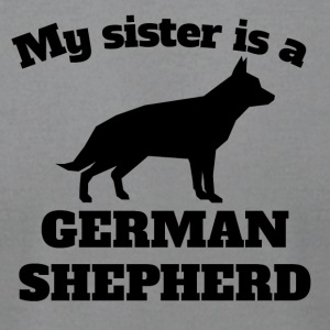 My Sister Is A German Shepherd - Men's T-Shirt by American Apparel