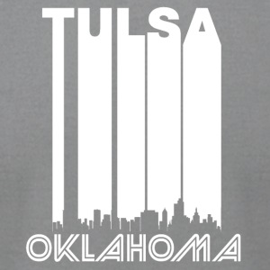 Retro Tulsa Skyline - Men's T-Shirt by American Apparel