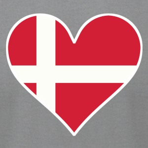 Danish Flag Heart - Men's T-Shirt by American Apparel