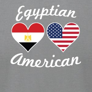Egyptian American Flag Hearts - Men's T-Shirt by American Apparel