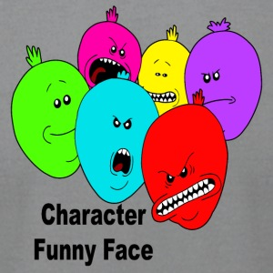 baloons character funny face - Men's T-Shirt by American Apparel
