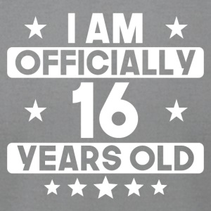 I Am Officially 16 Years Old 16th Birthday - Men's T-Shirt by American Apparel