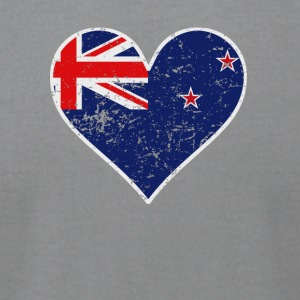 Distressed New Zealand Flag Heart - Men's T-Shirt by American Apparel