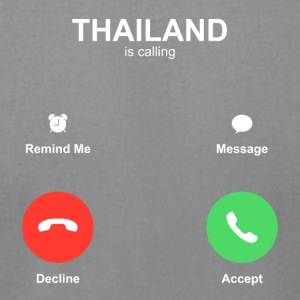 thailand call Accept Decline - Men's T-Shirt by American Apparel