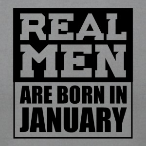 Real Men are Born in January - Men's T-Shirt by American Apparel