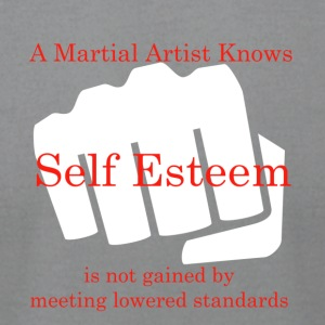 A Martial Artist Knows #1 - Fist - White - Men's T-Shirt by American Apparel