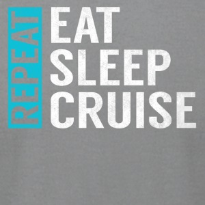 Eat Sleep Cruise Repeat Funny Vacation Crusing - Men's T-Shirt by American Apparel