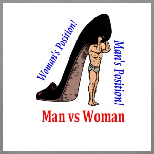 Shoe T-shirt Man vs Woman - Men's T-Shirt by American Apparel