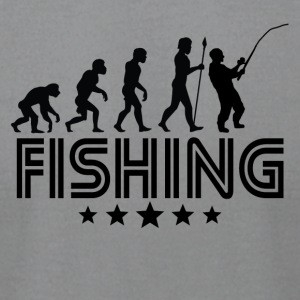 Retro Fishing Evolution - Men's T-Shirt by American Apparel