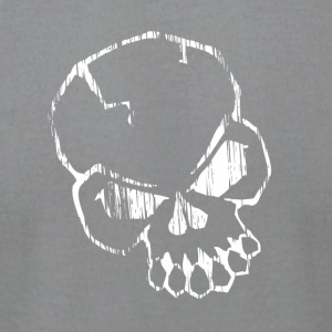 White skull - Men's T-Shirt by American Apparel