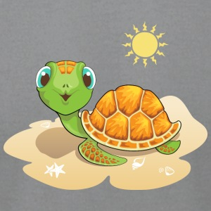 turtle sand sun reptile wildlife animal - Men's T-Shirt by American Apparel