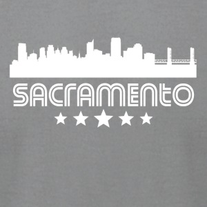 Retro Sacramento Skyline - Men's T-Shirt by American Apparel