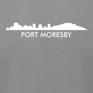 Port Moresby Papua New Guinea Skyline - Men's T-Shirt by American Apparel