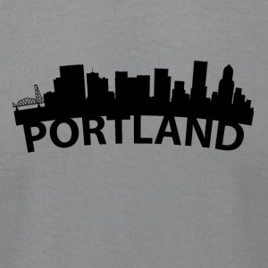 Arc Skyline Of Portland OR - Men's T-Shirt by American Apparel