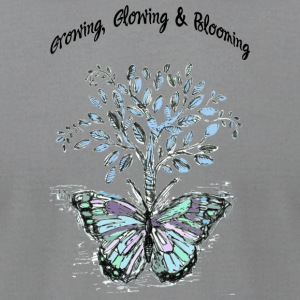 Growing, Glowing and Blooming - by Fanitsa Petrou - Men's T-Shirt by American Apparel