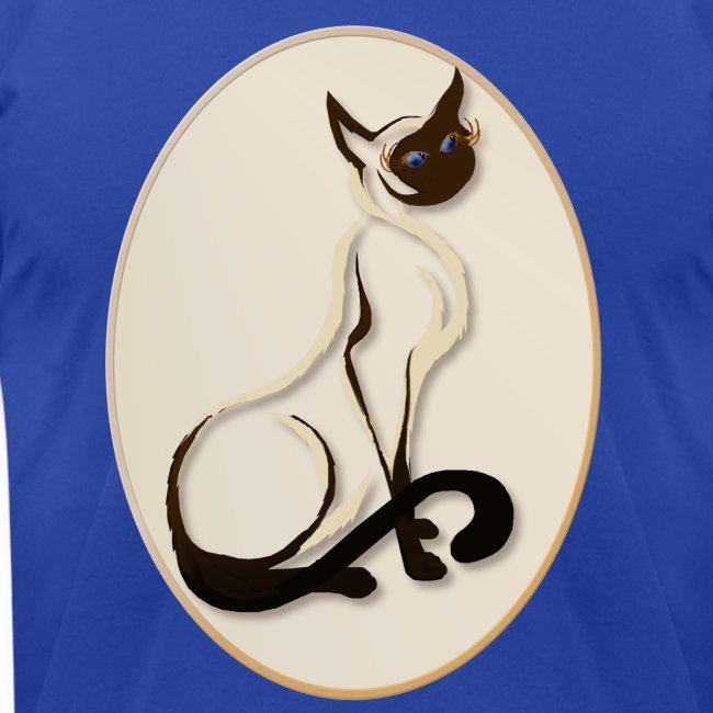 Sitting Siamese Kitty Oval
