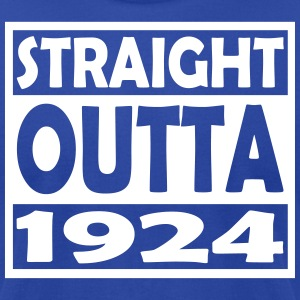 93th Birthday T Shirt Straight Outta 1924 - Men's T-Shirt by American Apparel