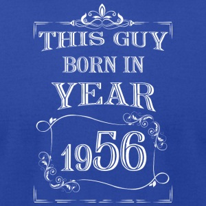 this guy born in year 1956 white - Men's T-Shirt by American Apparel