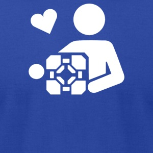 Adesivo Companion Cube Portal - Men's T-Shirt by American Apparel