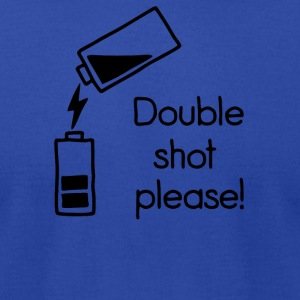 double shot - Men's T-Shirt by American Apparel