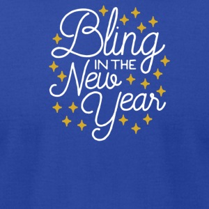 Bling In The New Year with Stars - Men's T-Shirt by American Apparel