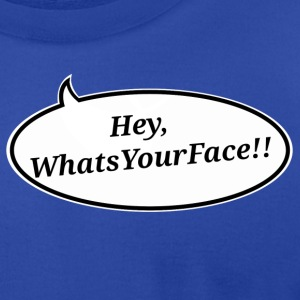 HeyWhatsYourFace - Men's T-Shirt by American Apparel