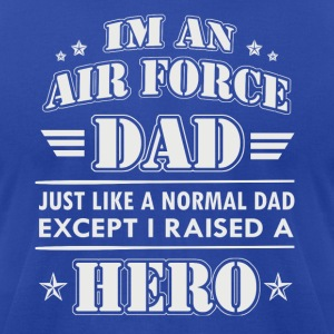 Airforce Dad - Men's T-Shirt by American Apparel