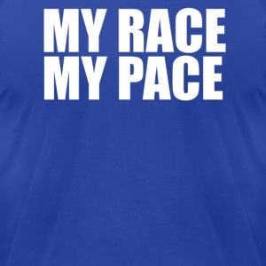 MY RACE MY PACe T shirt - Men's T-Shirt by American Apparel