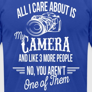 FUNNY PHOTOGRAPHY GIFT - MY CAMERA - CAMERA LOVER - Men's T-Shirt by American Apparel