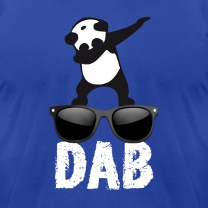 dab panda glaces dabbing football touchdown dance - Men's T-Shirt by American Apparel