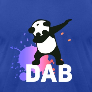 DAB panda dabbing football touchdown mooving dance - Men's T-Shirt by American Apparel
