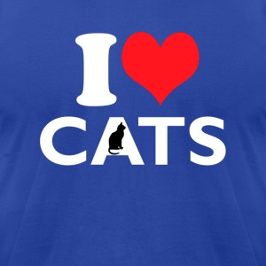 I Love Cats T-shirt - Men's T-Shirt by American Apparel
