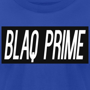 Blaq Prime Box Logo - Men's T-Shirt by American Apparel